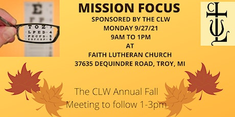 CLW Mission Fair & Fall Meeting tickets
