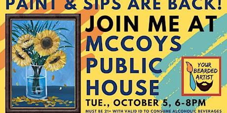October 5 Paint & Sip at McCoy's Public House - St. Louis Park tickets