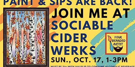 October 17 Paint & Sip at Sociable Cider Werks tickets