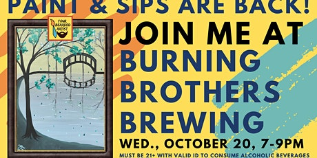 October 20 Paint & Sip at Burning Brothers Brewing tickets