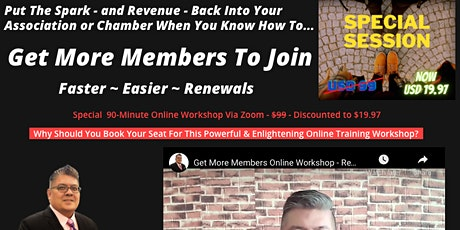 Chambers Of Commerce -  How To Get More Members  - Easier and Faster tickets