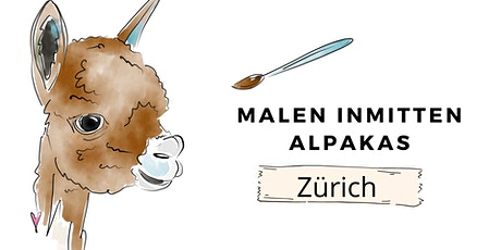 Malen inmitten Alpakas- Zürich Tickets