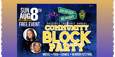 JOIN THE DOTS & BEENAUGHTYTOYS 1ST ANNUAL BLOCK PARTY ~ VENDOR REGISTRATION tickets