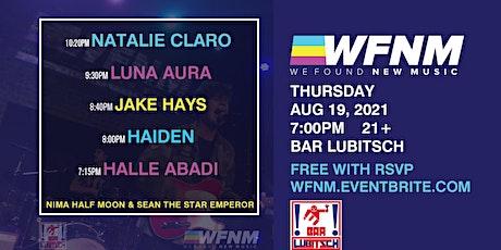 NATALIE CLARO / LUNA AURA / JAKE HAYS / HAIDEN / HALLE ABADI tickets