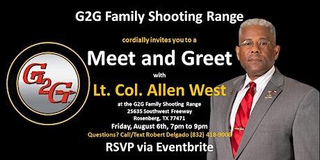 Meet Lt. Col. Allen West tickets
