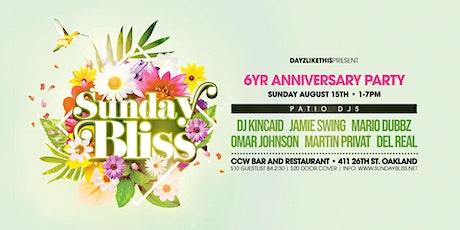 Sunday BLISS - 6yr Anniversary tickets