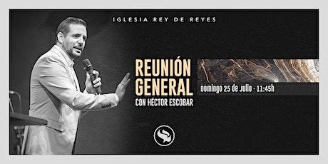 Reunión general con Héctor Escobar - 25/07/21 - 11:45h tickets