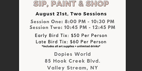 NYC: Sip, Shop & Paint @ The Black Artistry Pop Up! tickets