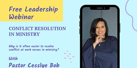 Webinar for Conflict Resolution in Ministry Tickets