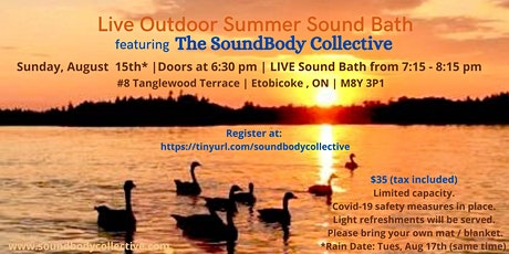 Live Outdoor Summer Sound Bath w/ The SoundBody Collective! tickets