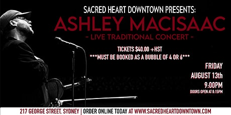 ASHLEY MACISAAC LIVE TRADITIONAL CONCERT AT SACRED HEART DOWNTOWN tickets