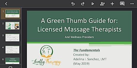 CBD Fundamentals for Massage Therapists & Wellness Providers tickets