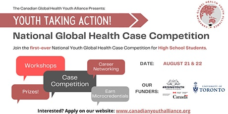 Youth Taking Action: Global Health Case Competition tickets