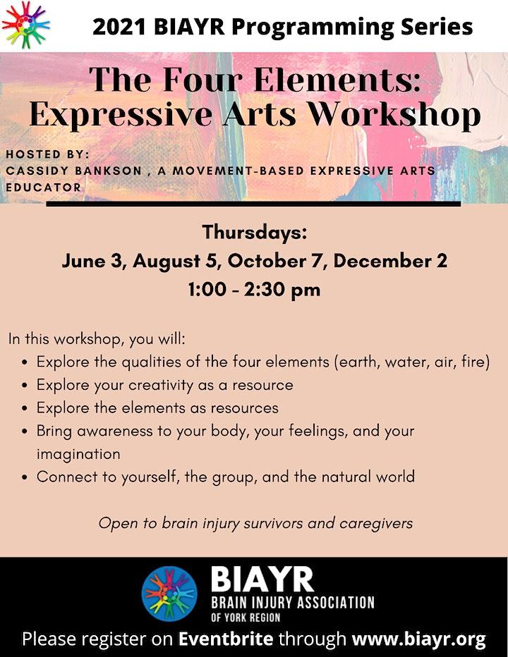The Four Elements: Expressive Arts Workshop - 2021 BIAYR Programming Series image
