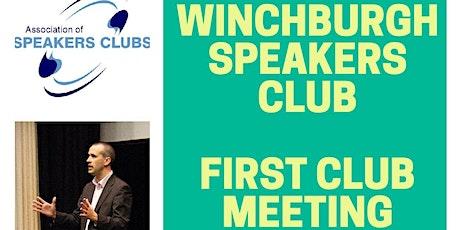 Winchburgh Speakers Club - Launch Meeting! billets