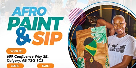 Afro Paint and Sip YYC (Friday's Session) tickets
