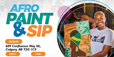 Afro Paint and Sip YYC (Saturday's Session) tickets