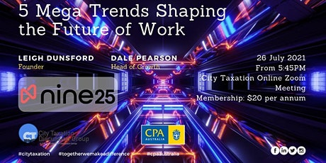 CTDG July 2nd 2021 - 5 Mega Trends Shaping the Future of Work tickets
