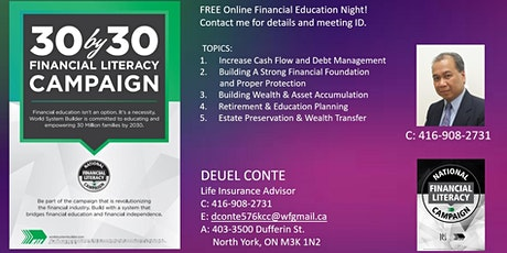 Financial Education Campaign Tickets
