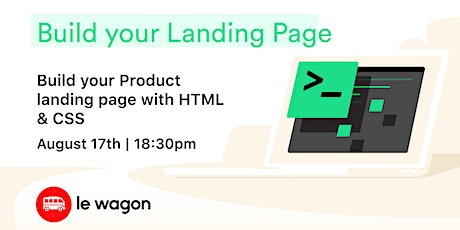 Build your landing page tickets