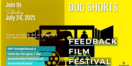 DOCUMENTARY SHORTS Film Festival Event - Stream for FREE all day Saturday tickets