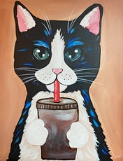 Paint Night in Rockland - Coffee cat at G.A.B.'s tickets