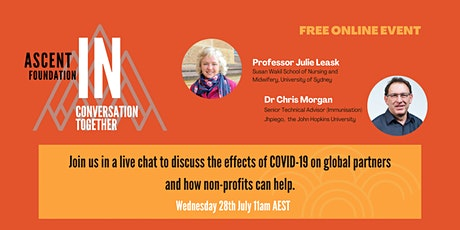 InConversation COVID19: Vaccines & Global Health. How non-profits can help. tickets