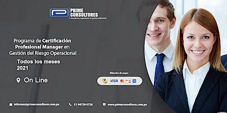 CERTIFICACION CPGROp  PROFESIONAL MANAGER EN GESTION DEL RIESGO OPERACIONAL entradas