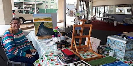 Wat's Rae's Art Workshop with Pop-Up Artist in Residence Raelene Watson. tickets