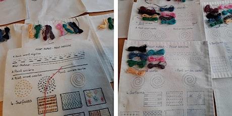 Portrait textile - Initiation à la broderie et à l'art textile billets