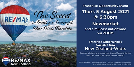 The Secret to owning a Successful Real Estate Franchise tickets