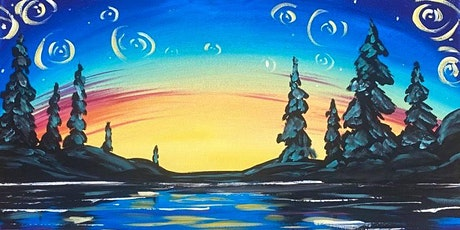 Paint Night in Rockland - Starry lake at G.A.B.'s tickets