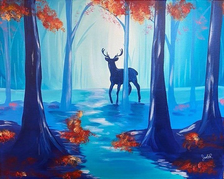Paint Night in Embrun - Magic forest at Boston Pizza image