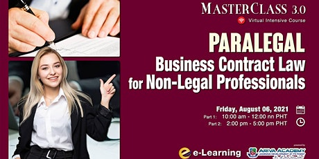 Paralegal: Business Contract Law for Non-Legal Professionals tickets