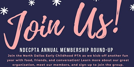 North Dallas Early Childhood PTA Membership Round-Up 2021 tickets