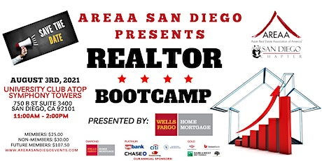 SAVE THE DATE - AREAA SAN DIEGO REALTOR BOOT CAMP tickets