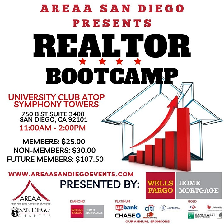 SAVE THE DATE - AREAA SAN DIEGO REALTOR BOOT CAMP image