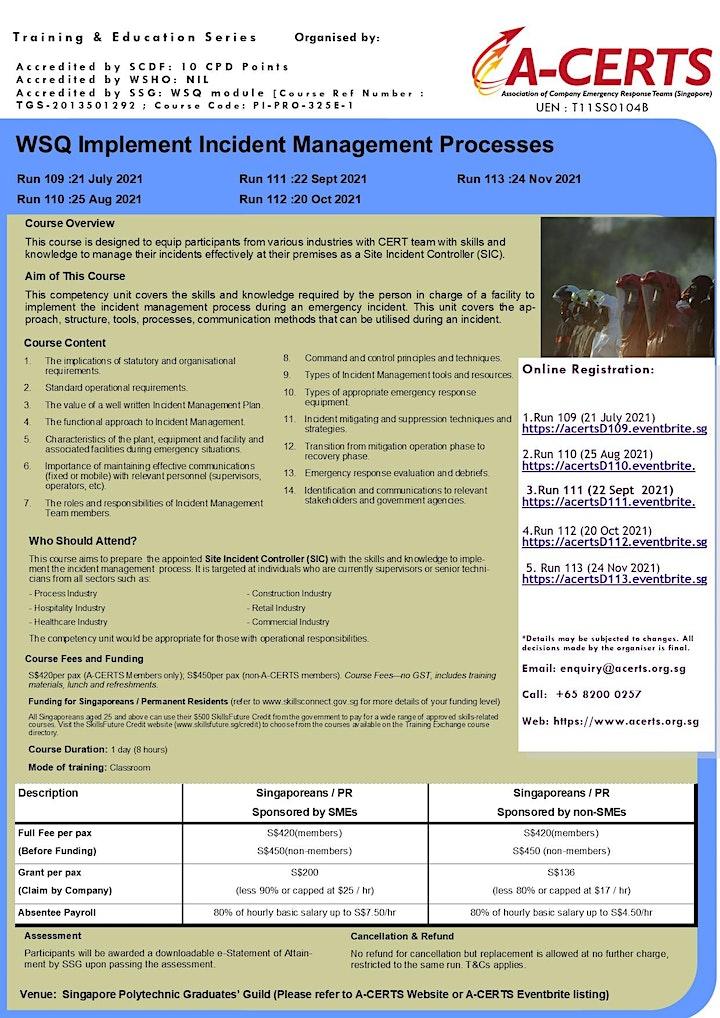 A-CERTS Training:WSQ Implement Incident Management Processes Run 111 image