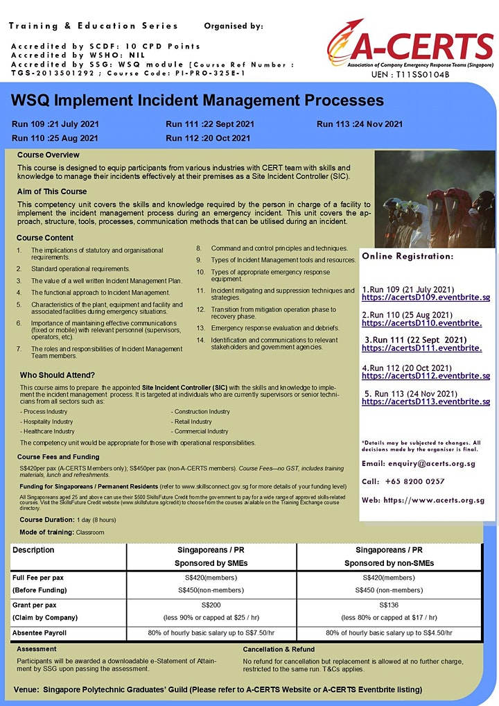 A-CERTS Training:WSQ Implement Incident Management Processes Run 113 image