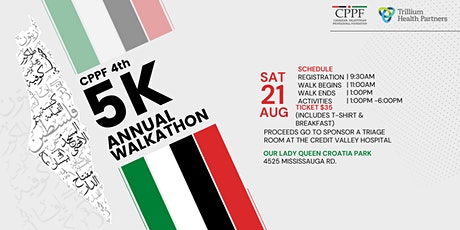 4th Annual CPPF 5K Charity Walkathon tickets