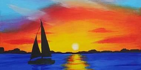 "Sip and Paint  -  ""Sunset Sail""  Bushfire Kitchen La Costa tickets"