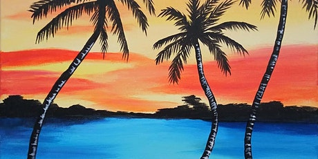 "Sip and Paint  -  ""Island Sunset""  Bushfire Kitchen Del Mar tickets"