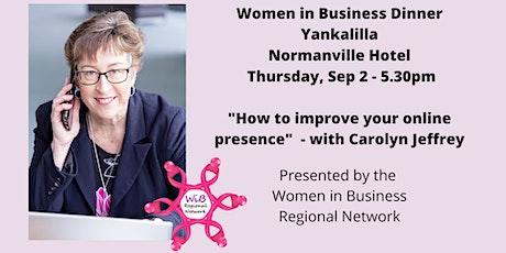 Yankalilla dinner Women in Business  Regional Netw tickets