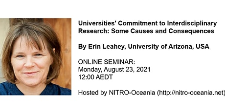 Universities' Commitment to Interdisciplinary Research by Erin Leahey tickets