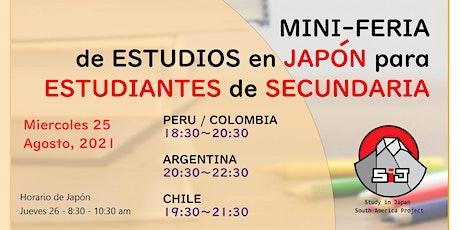 MINI-FERIA de ESTUDIOS en JAPÓN para ESTUDIANTES de SECUNDARIA boletos