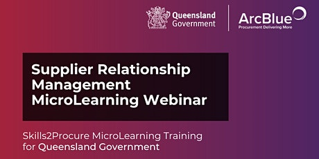 Supplier Relationship Management Skills2Procure Training for Qld Government tickets