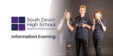 South Devon High School  Information Evening tickets