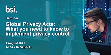 免費研討會 - What you need to know to implement privacy control tickets