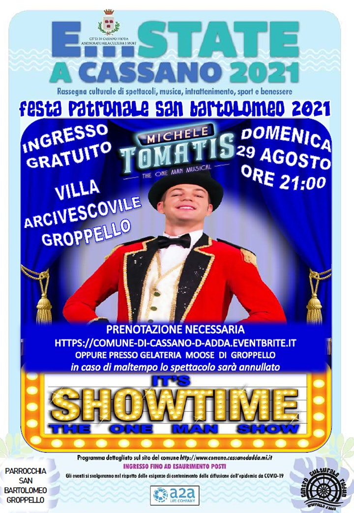 Immagine E...state a Cassano - MICHELE TOMATIS - FESTA SAN BARTOOMEO GROPPELLO