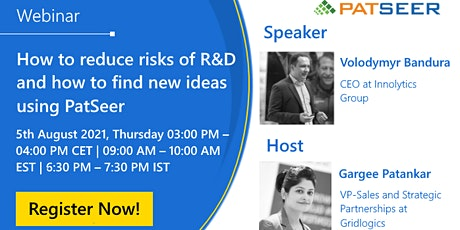 Webinar on 'How to reduce risks of R&D and how to find new ideas' tickets